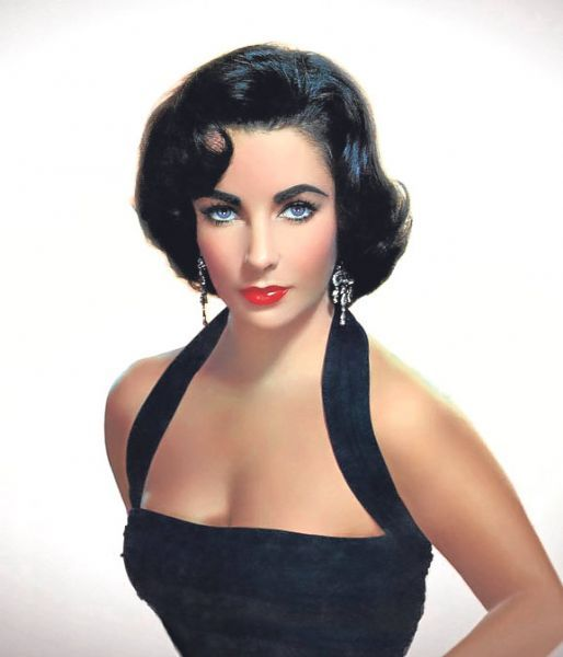 Elizabeth Taylor With Side Swept Bob Haircut Style Inspiration