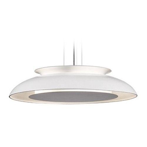 Kuzco lighting eclipse white led pendant light with bowl dome shade pendant lighting bowls and pendants