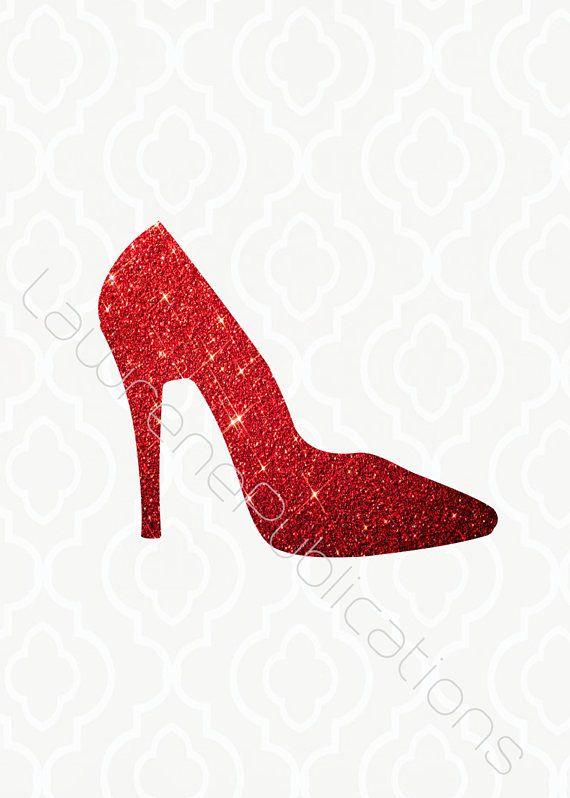 Printables Png File Red Glitter High Heel Digital Download Etsy Red Glitter Digital Download Etsy Glitter High Heels