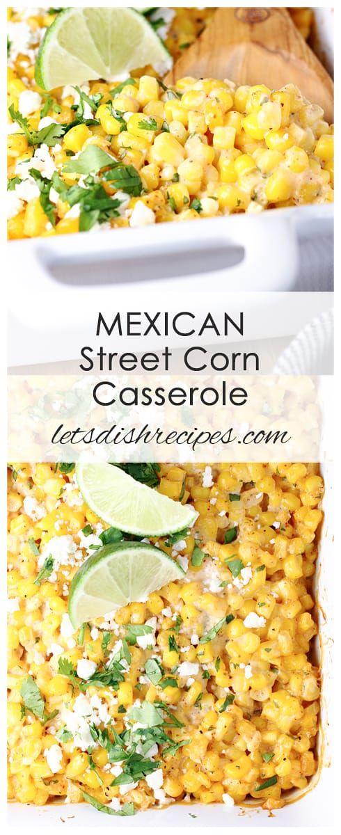 Mexican Street Corn Casserole #mexicanstreetcorn