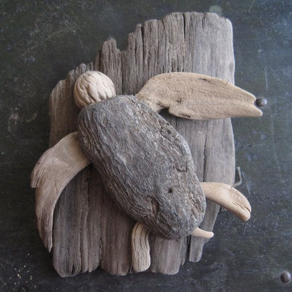 Driftwood sea turtle driftwood turtle and 50th for Craft ideas for driftwood