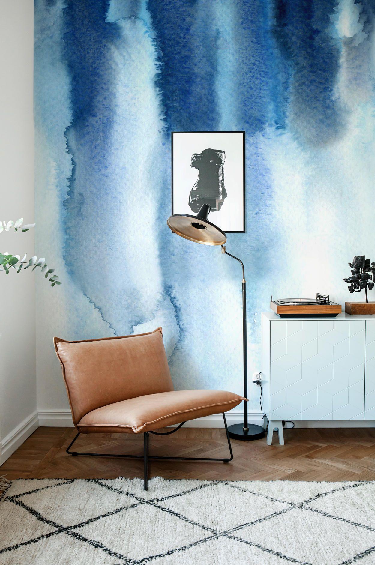 Wallpaper Best Home Interior Design Watercolor Wallpaper Blue Watercolor Wallpaper