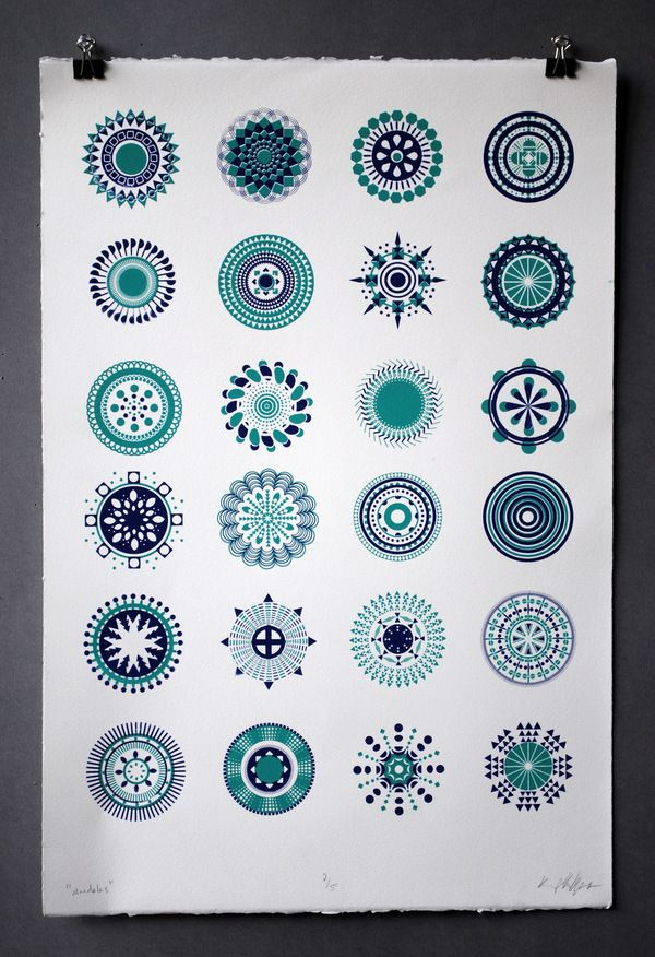 Screen Printing by kenny phillips, via Behance