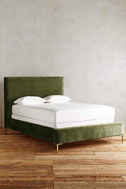 Slub Velvet Edlyn Bed Furniture Beds Pinterest Bed Bedroom