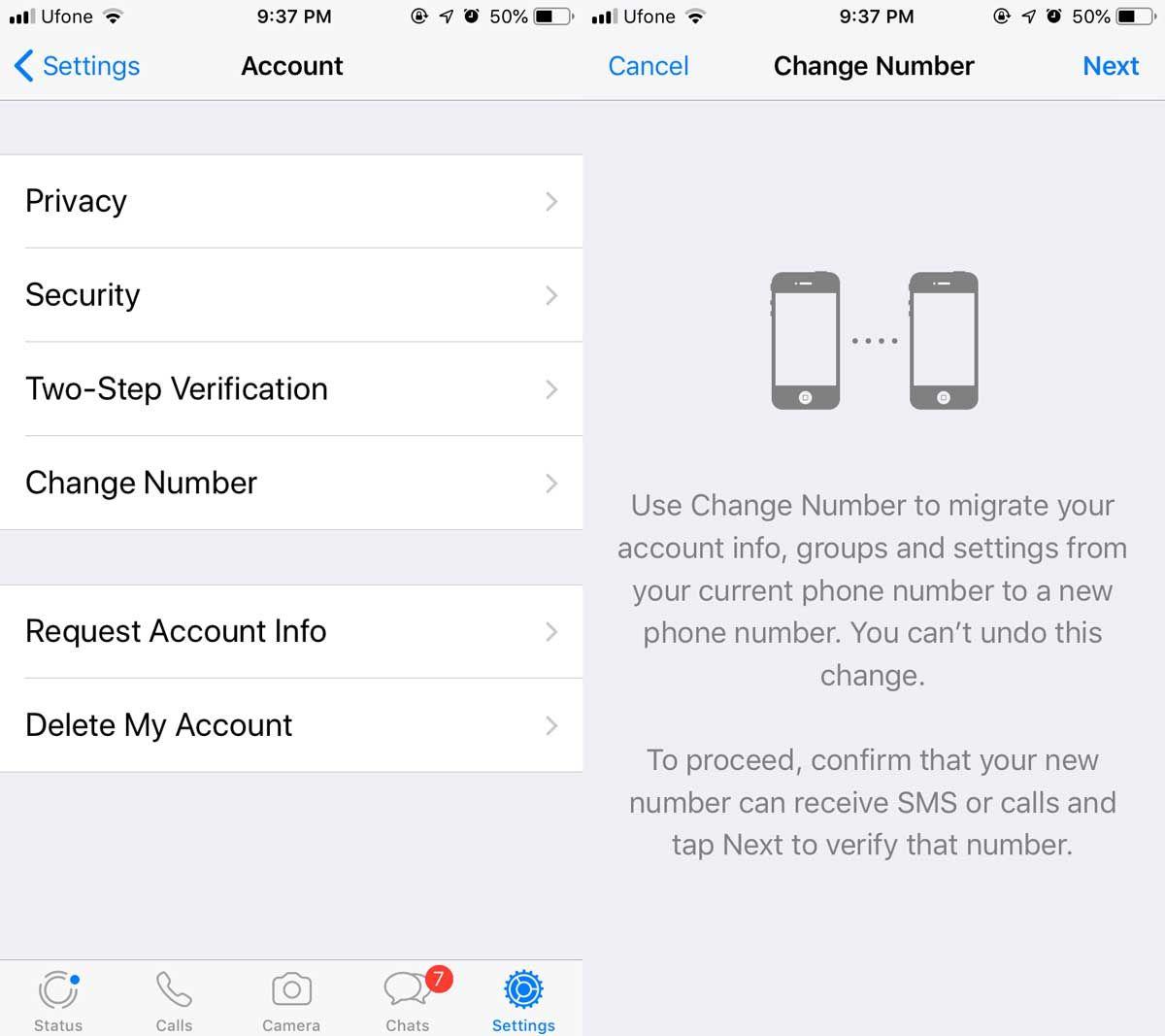 How to change your whatsapp phone number whatsapp phone