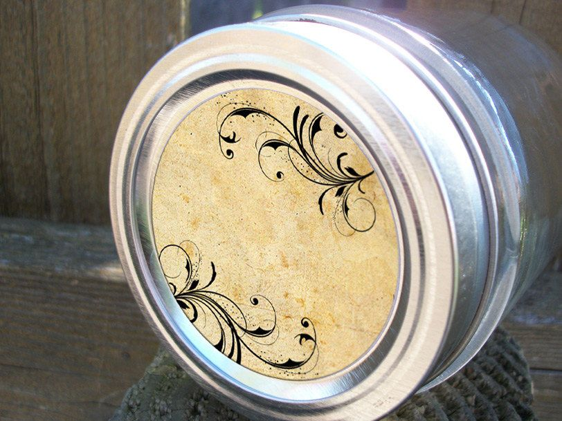 Vintage whimsical canning jar labels 2 inch round stickers for mason jars fruit preservation