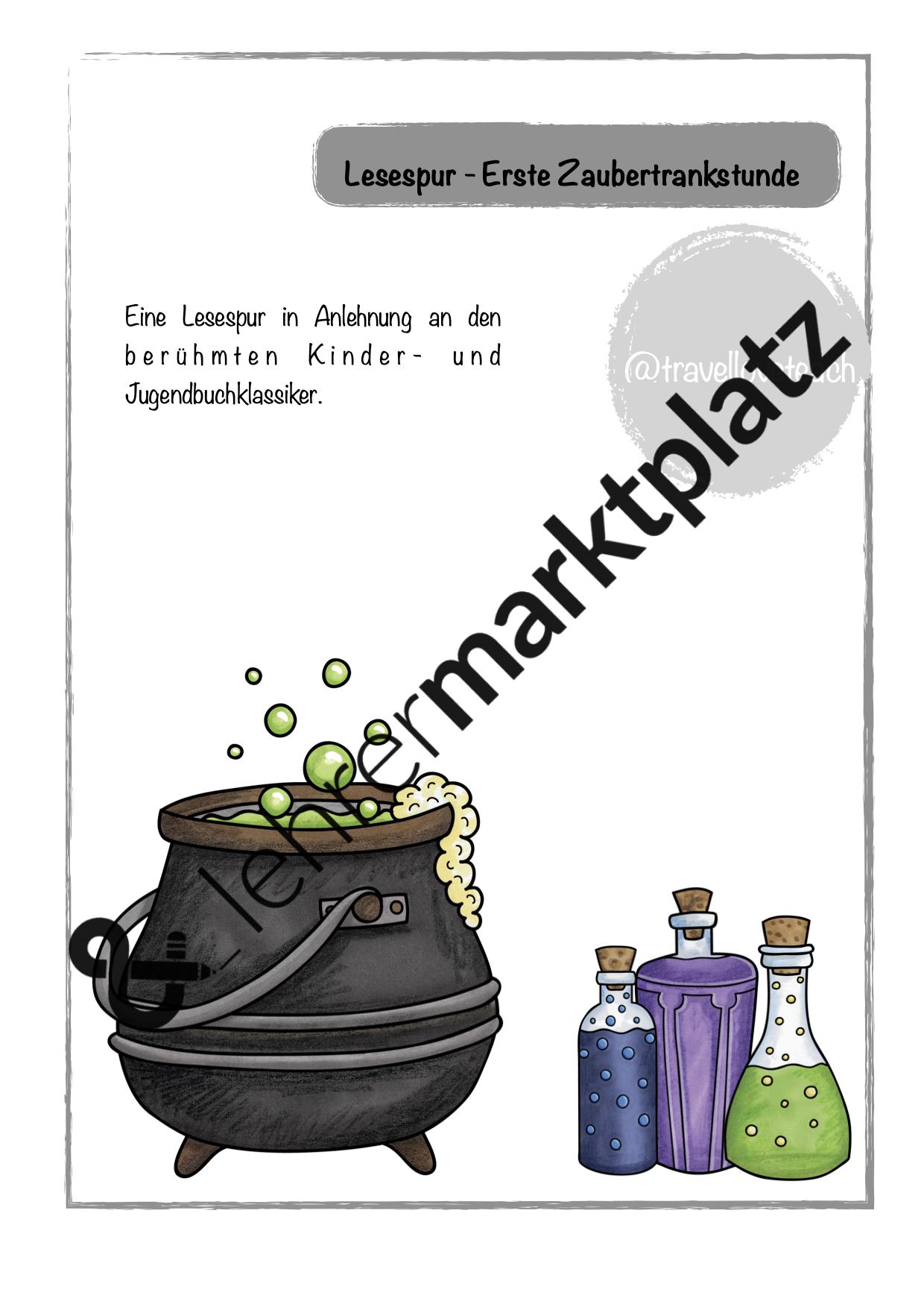 Lesespur Zaubertrankstunde Harry Potter Unterrichtsmaterial Im Fach Deutsch Buch Klassiker Lesen Lernen Tipps Schule