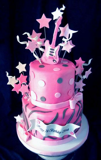 tiered rock star cakes for girls Bing Images cakes Pinterest