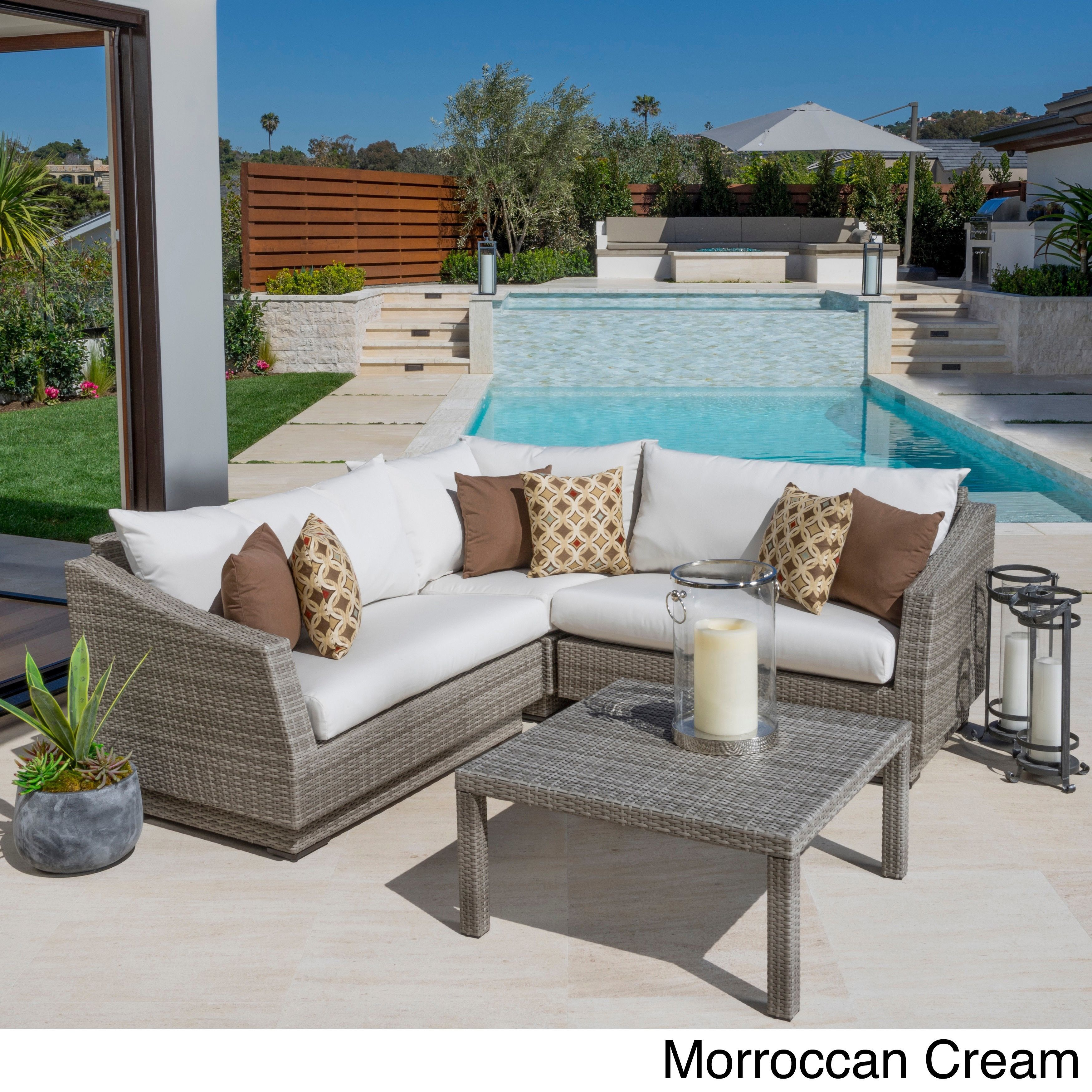 rst brands cannes 4 piece patio corner sectional bliss blue 4 rh pinterest ca