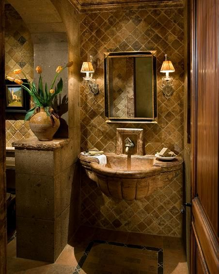 Tuscan Style Bathroom Designs Endearing Love These Tilespower Roombilli Springer  Luxurious Design Decoration