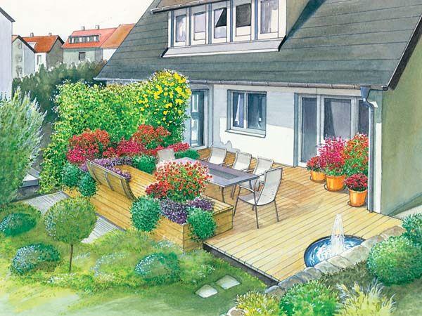 Neugestaltung einer geräumigen Terrasse | Garten, Diy ...