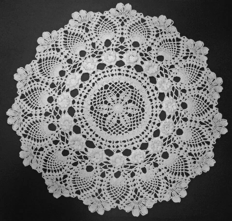 """This comes from the pattern book """"Annie's Attic: Doilies in color. I chose  to do it in white instead."""