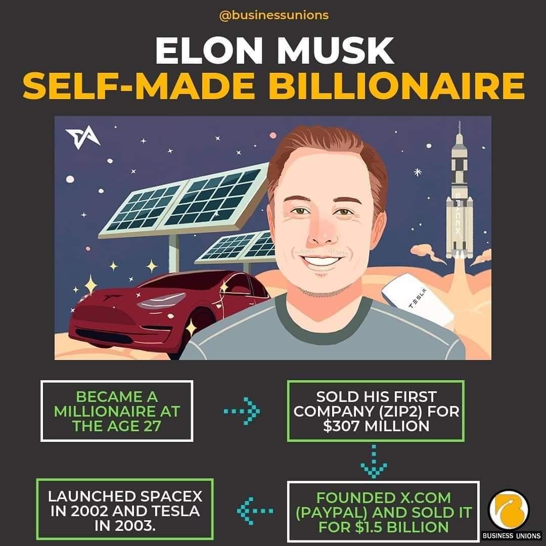 Self Made Billionaire Elon Musk In 2020 Online Business Marketing Business Mentor Make Money On Internet