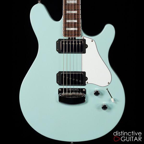 ernie ball music man valentine bfr 23 68 baby blue guitars in 2019 bass guitar lessons. Black Bedroom Furniture Sets. Home Design Ideas
