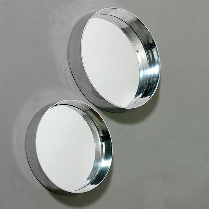 Espejo Circular Bright Aluminio 36x6 Pq Espejos