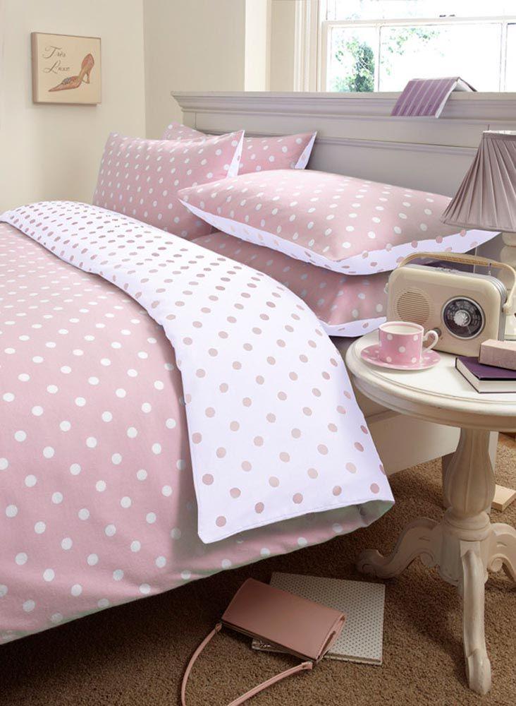 Pink Polka Dot Duvet Cover