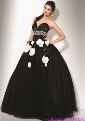 cd007923abd Jovani quinceanera dress in black and white