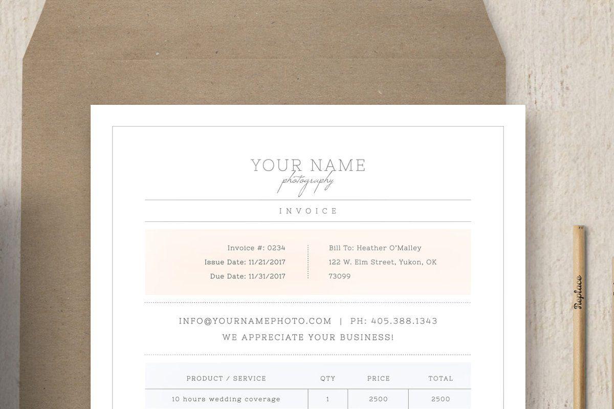 Photographer Invoice Template Invoice Template Invoice Design Templates
