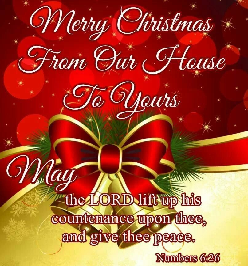 Merry Christmas From Our Home To Yours.Merry Christmas From Our House To Yours The Blessing Of