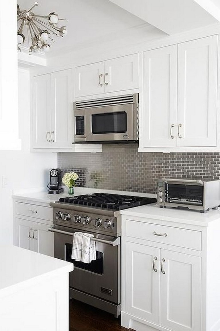45+ Modern Small White Kitchen Design Ideas whitekitchen ...