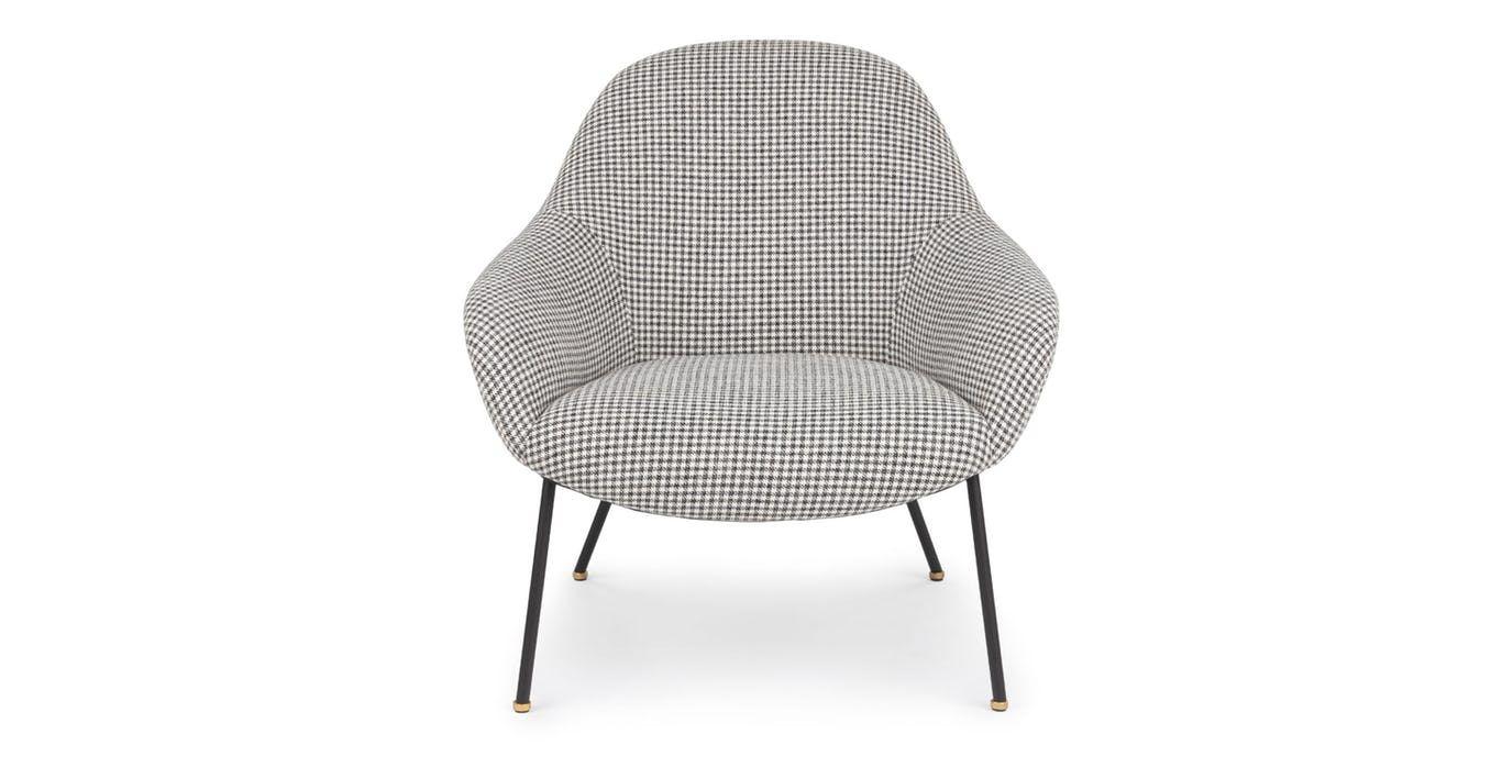 Savary Black and Ivory Plaid Chair | Plaid chair, Yellow ...