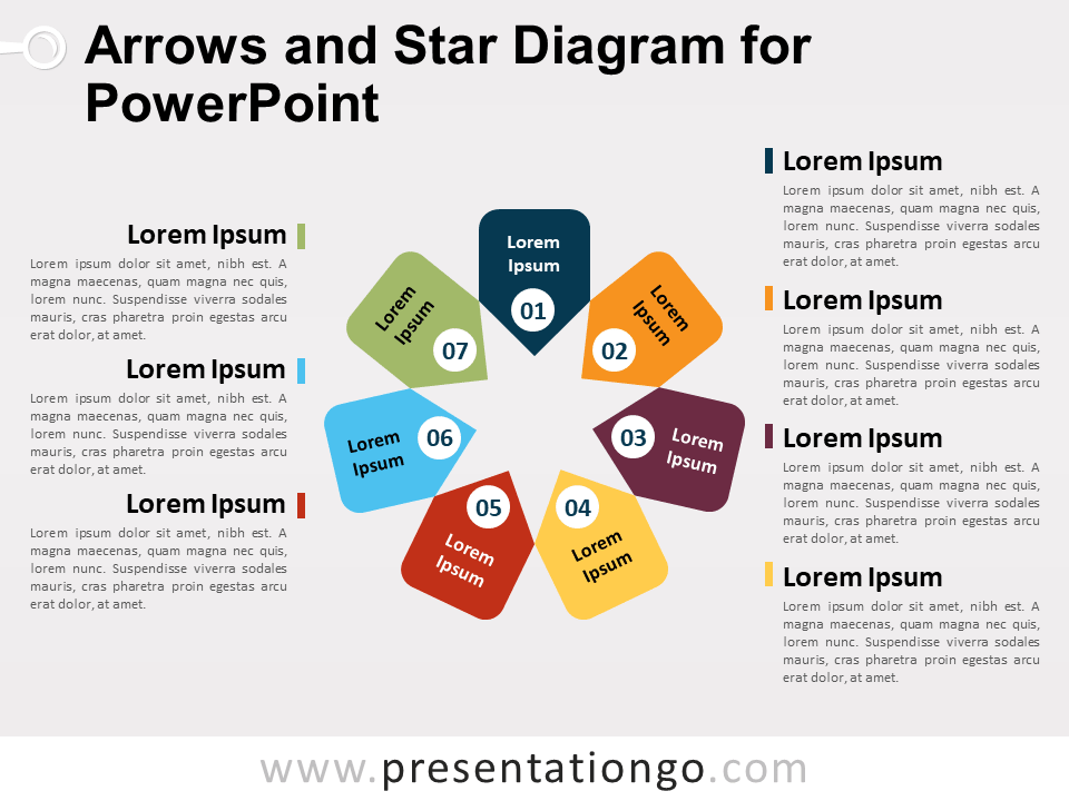 Arrows and star diagram for powerpoint presentationgo ccuart Images