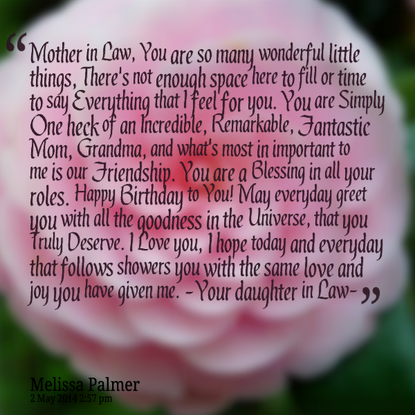Mothers Day Mother In Law Quotes Law Quotes Birthday Wishes