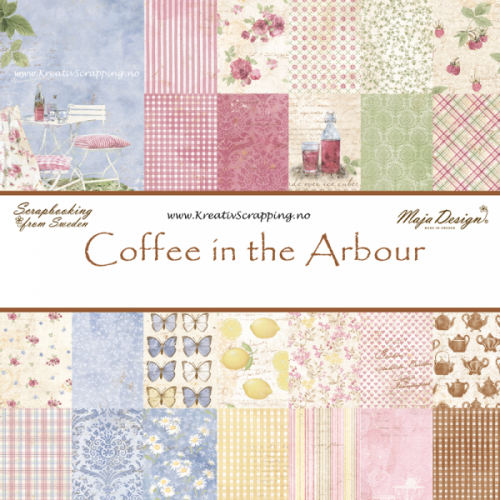 MAJA DESIGN - COFFEE IN THE ARBOUR - EN AV ALLE (18 STK)   Double-sided - patterned - heavyweight paper - acid & lignin free