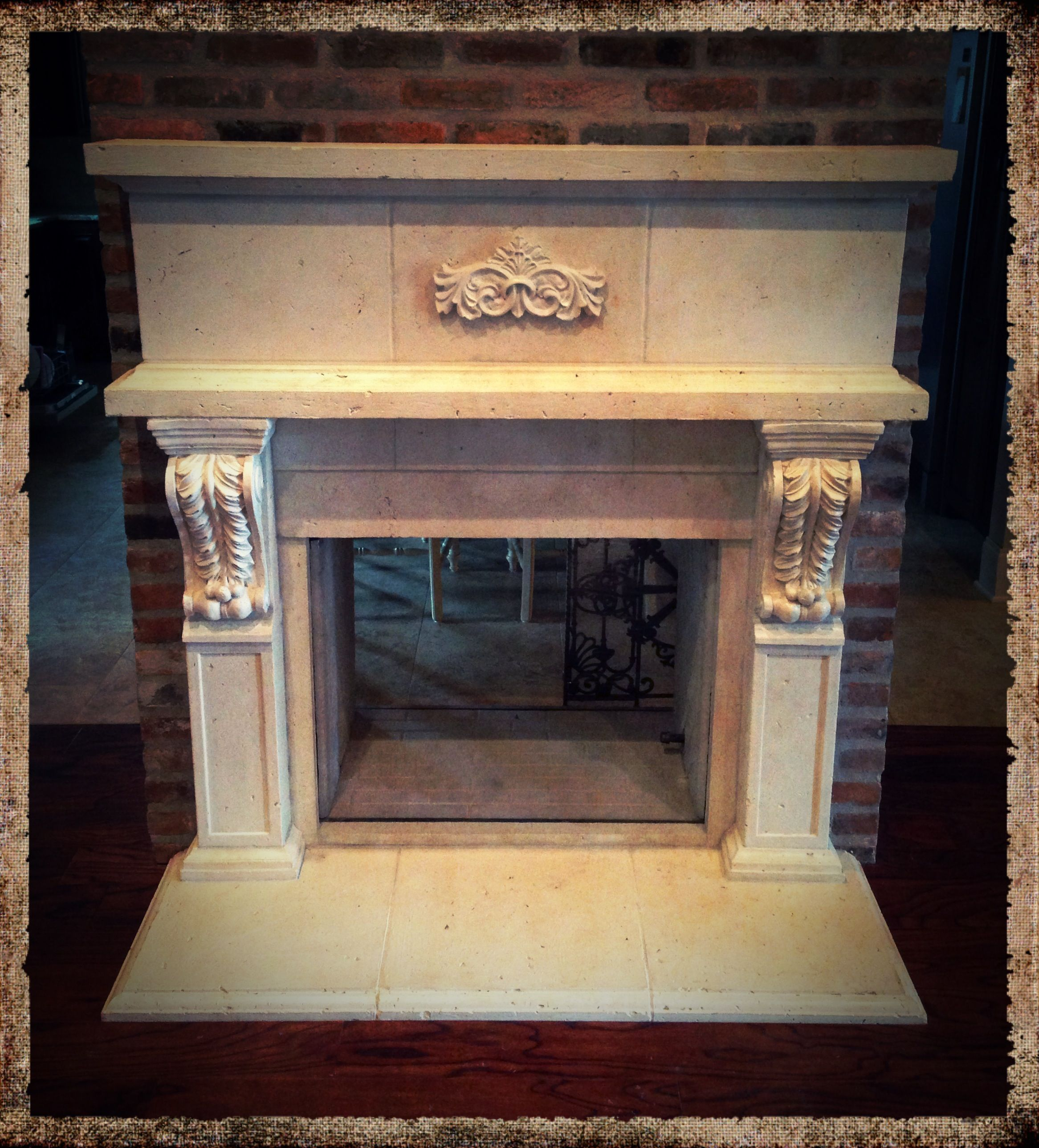 mantels cast paint fireplace surround cleaning stone