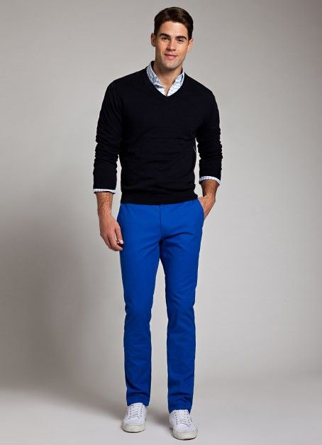 1e7d0c5092 Bonobos - love the bright blue!!   Haberdashery   Royal blue pants ...