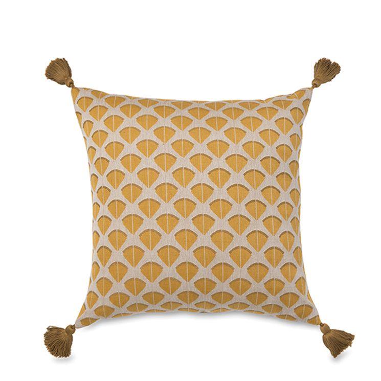 Fans Woven Cushion Cover W Tassel Citta Design Sofa