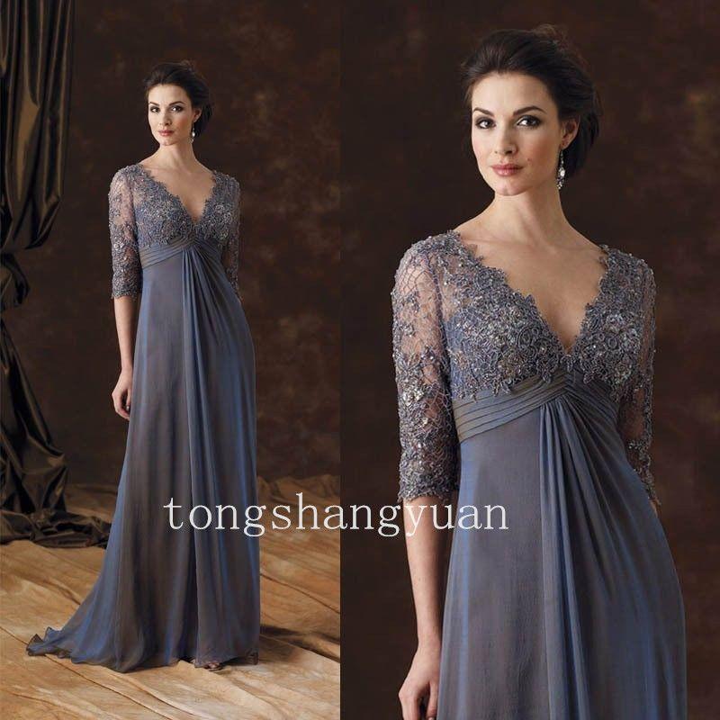 Lace Applique Plus Size Mother Of The Bride Dresses Long Evening