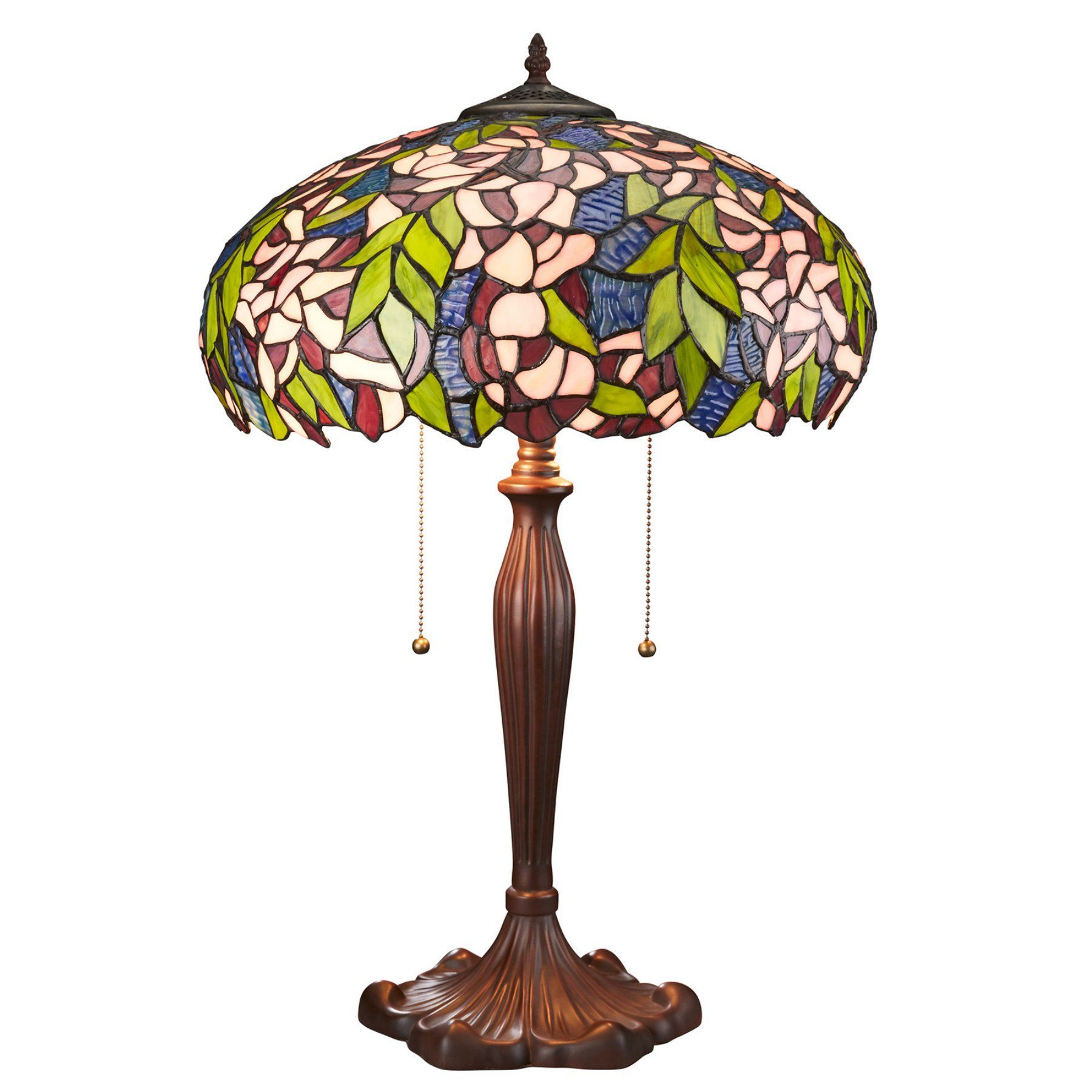 Design Toscano Art Nouveau Wisteria Tiffany-Style Stained Glass Lamp - TF85004