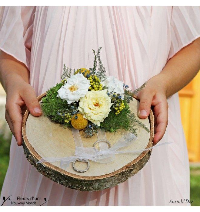 Porte alliances mariage Fleurs des champs