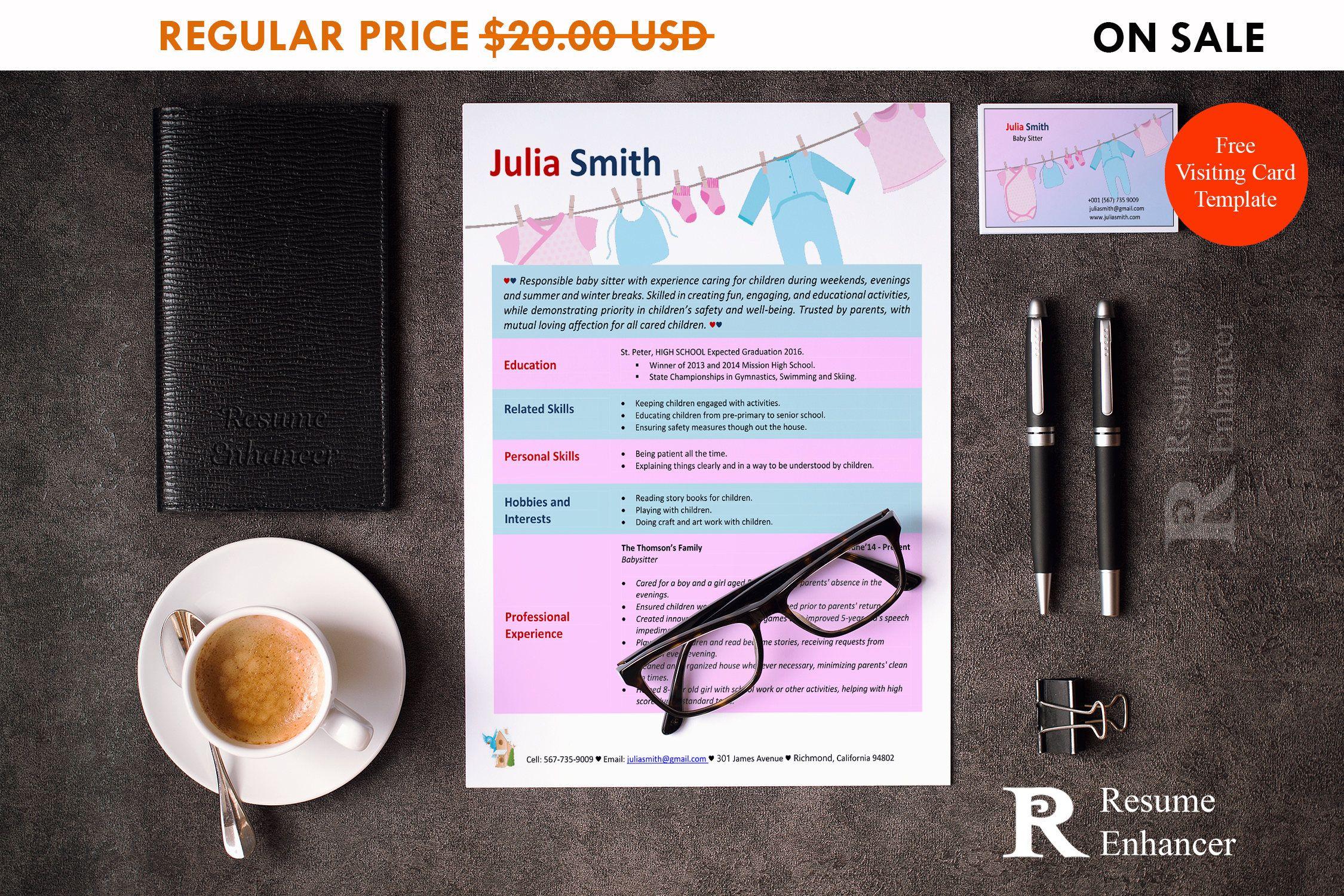 80 off sale babysitter resume template resume design cv