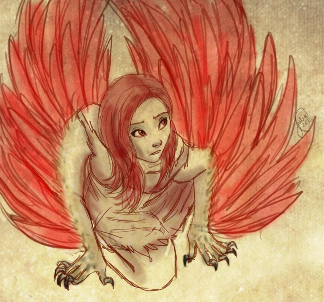 Ella The Harpy Quick Doodle