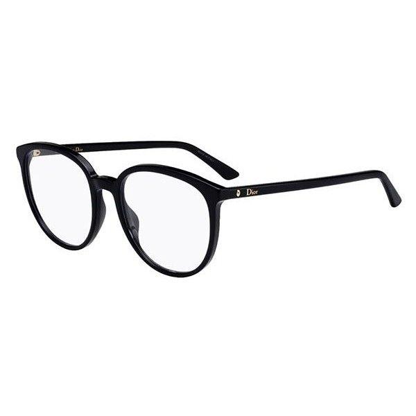 3836e114be Dior MONTAIGNE 54 807 Eyeglasses (3.360.000 IDR) ❤ liked on Polyvore  featuring accessories, eyewear, eyeglasses, black, christian dior eyewear,  ...