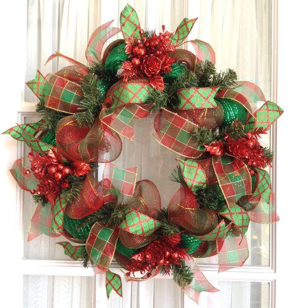 Deco Mesh Christmas Wreath W Snowman Slim Red Lime Green Holiday Wreaths Snowman Decor Screen Door Wreath Deco Mesh Christmas Wreaths Christmas Wreaths Christmas Mesh Wreaths