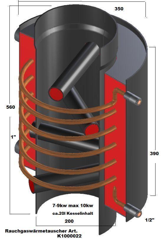 details zu rauchgasw rmetauscher bis10kw aufsatz f jeden ofen aschlu heizung brauchwasser. Black Bedroom Furniture Sets. Home Design Ideas