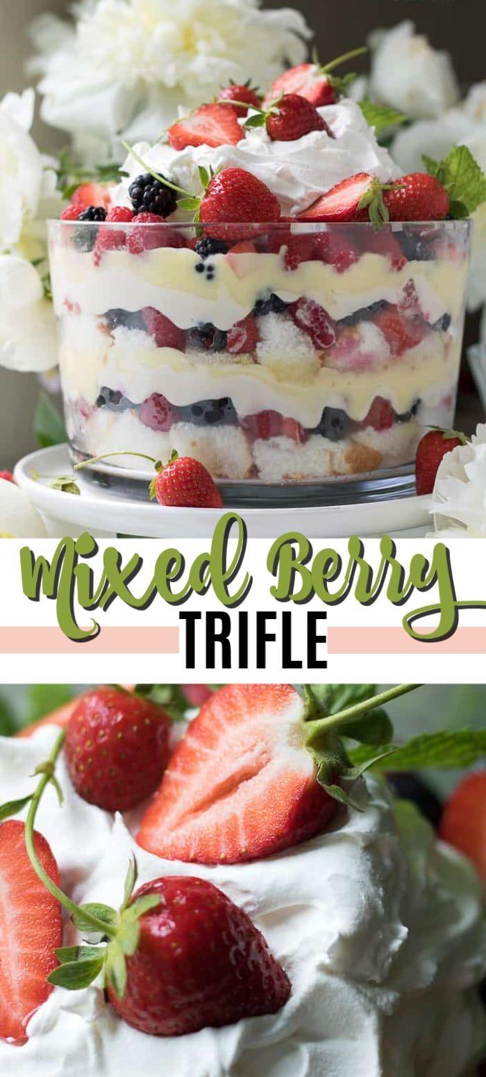 Berry Trifle: a no-bake mixed berry summer dessert