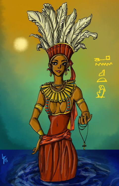 Anuket From Tumblr Mythologie Egyptienne Mythologie