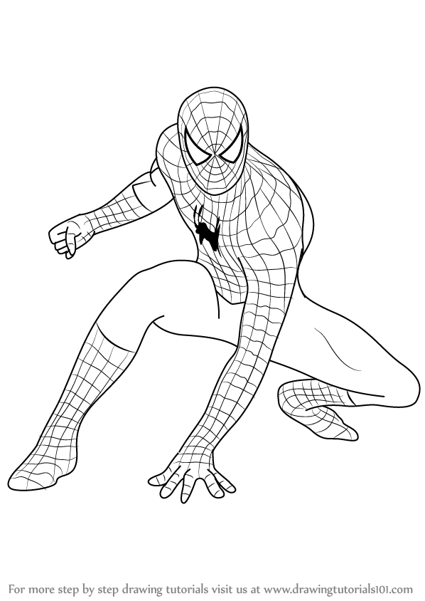 How to Draw Spiderman step by step, learn drawing by this
