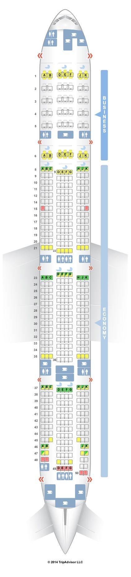 Emirates Seat Map SeatGuru Seat Map Emirates Boeing 777 300ER (77W) Two Class  Emirates Seat Map