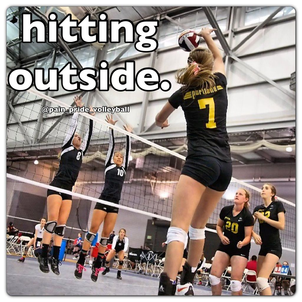 Outside Hitter Left Wing Spiking Technique How To Spike A Volleyball Volleyball Drills Volleyball Spike Volleyball