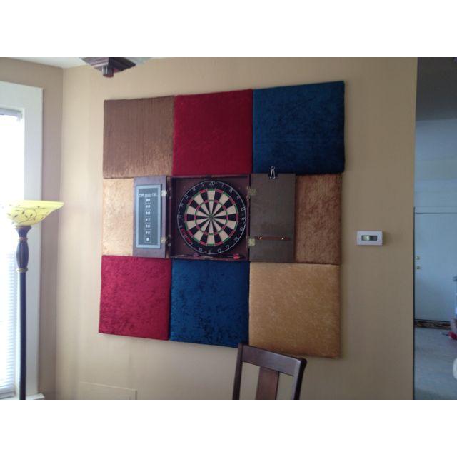 Dart board + backdrop | New Apartment Ideas | Dartboard wall ... on