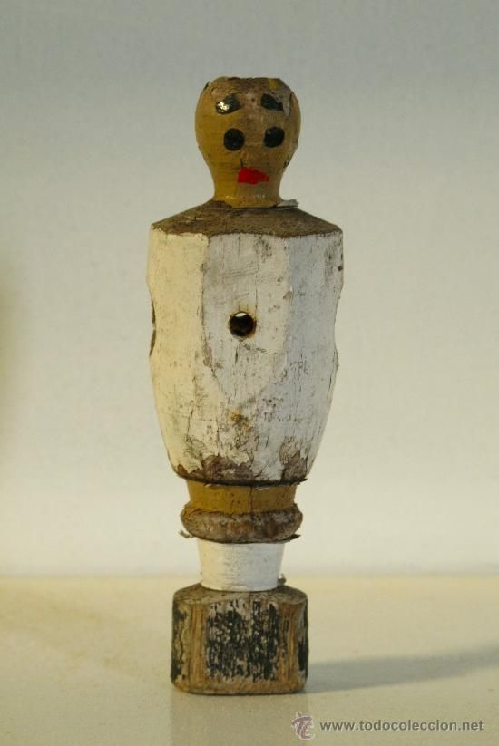 antiguo jugador de futbolín vintage retro figura madera, Real Madrid (Vintage - Varios)