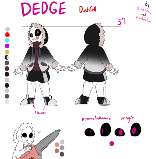 Dedge sans ( dust sans x fell sans child ) | more undertale