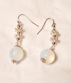 semi precious jewelry / 3mara3: Orecchini semi-preziosi Opale pietra di luna