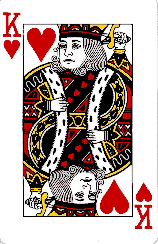 Afbeeldingsresultaat voor play cards heart king