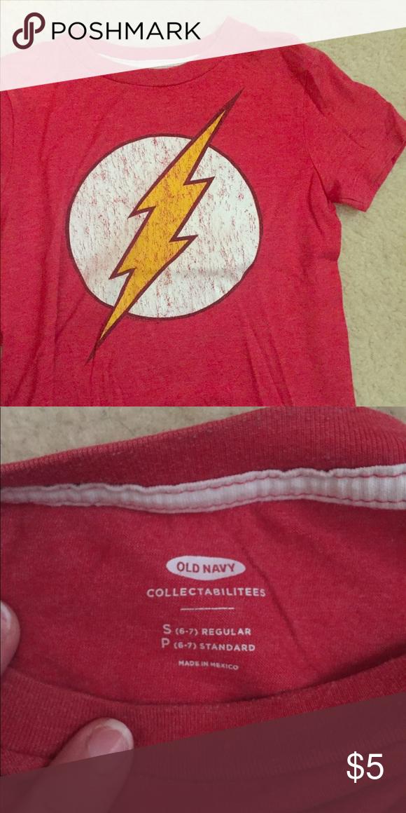 "1b6bba987 Boys ""Flash"" T-shirt Boys short sleeved ""Flash"" T-shirt. Size S 6-7 ..."